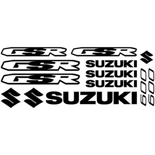 myrockshirt Motorrad Sponsorset Suzuki GSR 600 ca.30x20cm Aufkleber Sticker Decal Profi-Qualität ohne Hintergrund Bike Tuning