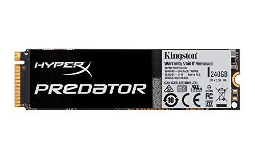 Kingston HyperX Predator SSD, PCIe Gen2, 240 GB, con Adattatore