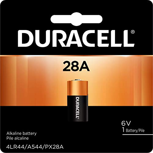Duracell - 28A Alkaline Batteries - long lasting, 6 Volt specialty battery for household and business - 1 count