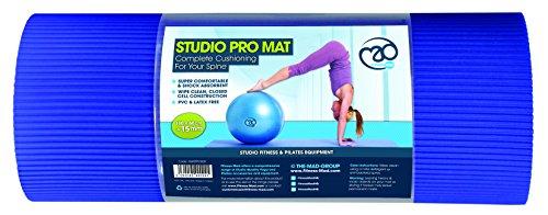 Yoga Mad - Matten für Pilates in Schwarz / Blau, Größe 180