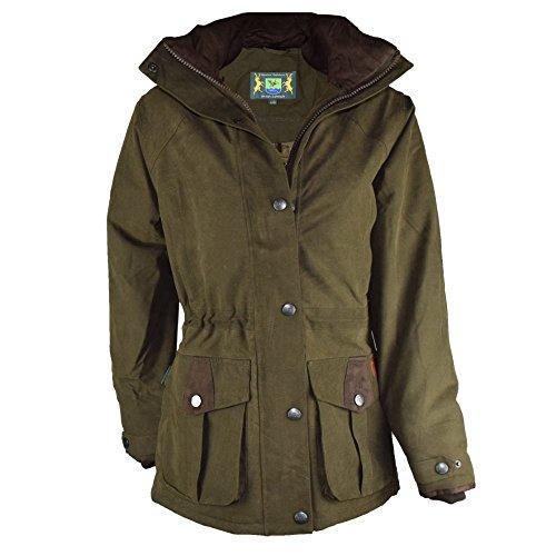 Romneys Hunter Rider Ladies Outdoorjas, warme en gevoerde winterjas, wind- en waterdicht, ademend, modieus tailleerbaar, inclusief capuchon