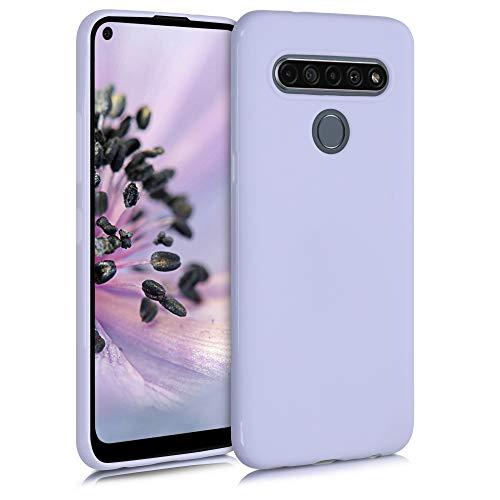 kwmobile Custodia Compatibile con LG K61 - Cover in Silicone TPU - Back Case per Smartphone - Protezione Gommata Lavanda