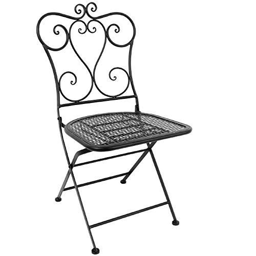 Bolero Terrassenstühle in klassischem Design Stahl weiß