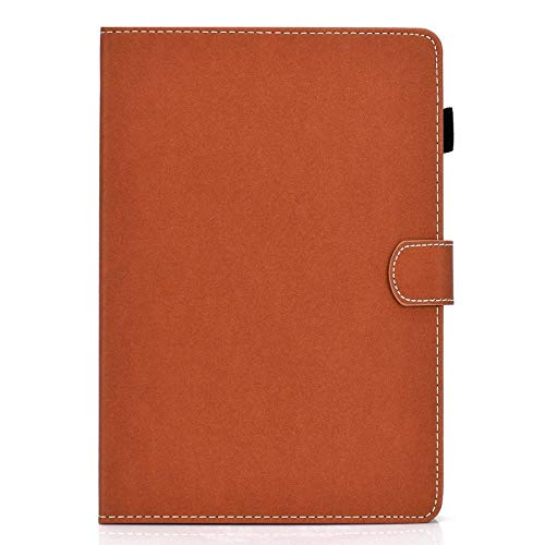 YYLKKB For Samsung Galaxy Tab E 9.6 T560 SM-T561 Cover Flip Stand Wallet Solid PU Leather Case Protective Shell Tab E 9.6 Tablet Case-Brown_SM-T560 T561