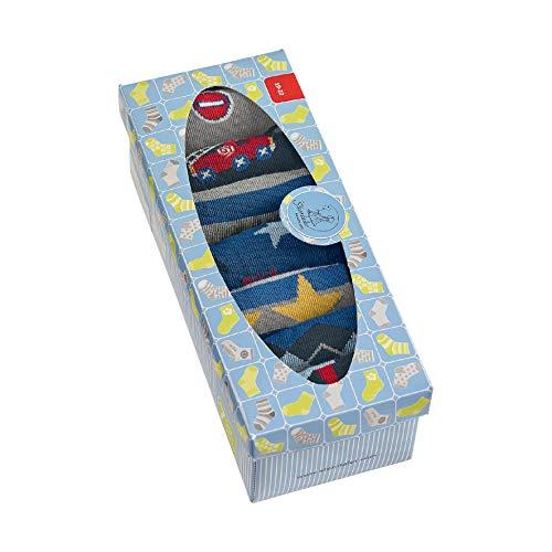 Sterntaler Baby - Mädchen Söckchen 7er-box Jungen, Blau (Marine 300), 22