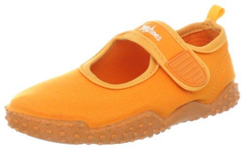 Playshoes Unisex-Kinder Aqua-Schuhe Klassisch, Orange (orange 968), 32/33 EU