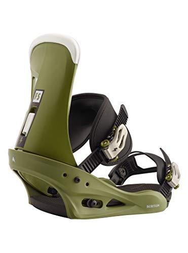 Burton Freestyle Fijación para Tabla de Snowboard, Hombre, Camp On Green, M