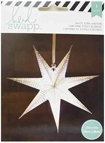 American Crafts Heidi Swapp 10268595Schablone zum 7-Punkt Star Papier Laterne 27,9cm weiß, Acryl, Mehrfarbig