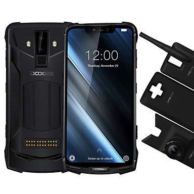 DOOGEE S90C (Super Mod) – Android 9.0 Outdoor Smartphone Ohne Vertrag, Helio P70 4GB+64GB, 6.18'' FHD+, IP68 IP69K Wasserdicht Handy, 16MP+8MP AI Kamera, 4G Globale LTE, NFC, Drahtlose Ladung