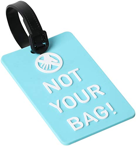 TRIXES Luggage Tag - Not Your Bag! Identifier Label - Blue and White