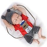 HRYEOY18 Inch 45cm Muñecos Bebé Reborn Niño Realista Silicona Cuerpo Entero Completo Recién Nacido J...