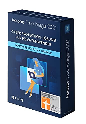 Acronis True Image 2021 | 1 PC/Mac | Cyber Protection-Lösung für Privatanwender| Integriertes Backup und Virenschutz | iOS/Android | Unbegrenzte Laufzeit | Box-Version
