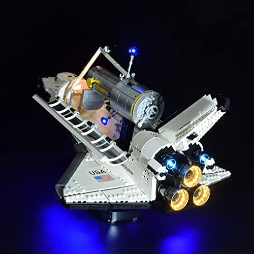 Myste Juego de iluminación LED 10283 para bloques de construcción Lego Space Shuttle Discovery, juego de luces LED compatible con Lego 10283 – Versión clásica (solo incluye LED, no kit Lego)