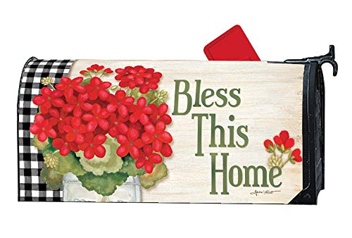 Studio M Geranium Blooms Decorative Spring Summer Floral MailWrap, The Original Magnetic Mailbox Cover, Made in USA, Superior Weather Durability, Standard Size fits 6.5W x 19L Inch Mailbox