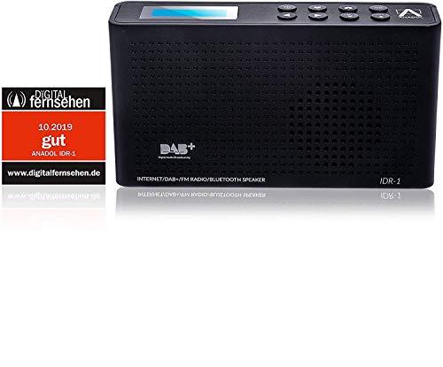 Anadol 4in1 IDR-1 Radio - tragbares Internetradio - DAB / DAB+ Digitalradio FM/UKW fähig - Bluetooth-Lautsprecher & Wifi - tragbares Dual digital Radio integrierter Akku - Kopfhöreranschluss - schwarz