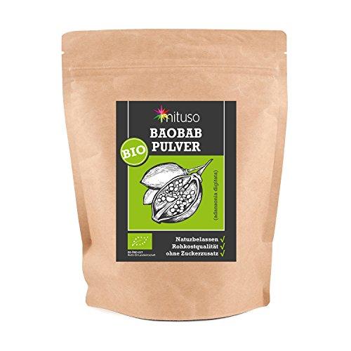 mituso Bio Baobab Pulver, 1er Pack (1 x 500g) Fruchtpulver vom Affenbrotbaum