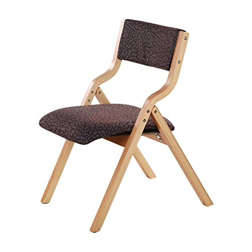 XIAOLVSHANGHANG HHCS Solid Wood Folding Chair European Fabric Home Dining Chair Office Chair Computer Chair Outdoor Portable Leisure Chair Chaises et tabourets (Couleur : A)