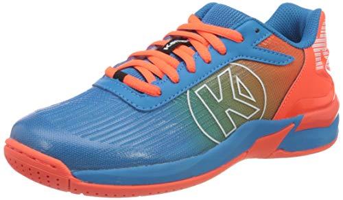 Kempa Attack 2.0 JUNIOR Sneaker, kempablau/Fluo rot, 32 EU