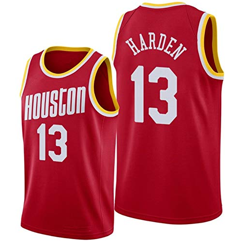 Herren Basketball Trikot/James Harden 13# Houston Rockets Jersey Legende Stickerei Basketball Shirts Swingman Jersey Tops T Shirts Geburtstagsgeschenk (Größe S-XXL)-redc-L