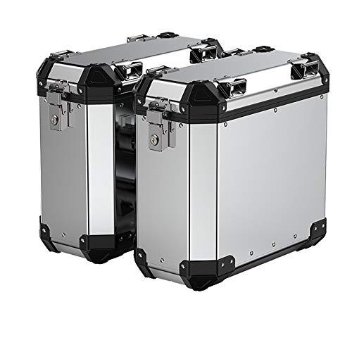 Wlik Motorrad-Seitenkoffer, wasserdichte Kofferraum Gepäckboxen mit Großer Kapazität Starke Robuste Motorrad-Aufbewahrung Werkzeugkoffer Aluminium-Heckkasten