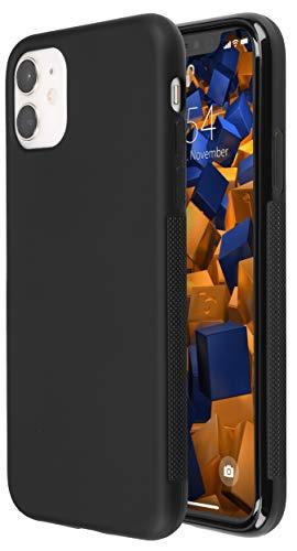 mumbi Hülle kompatibel mit iPhone 11 Handy Hülle Handyhülle double GRIP, schwarz