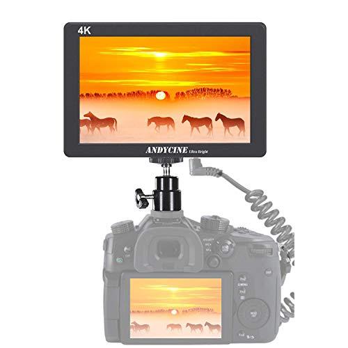 ANDYCINE X7 On Camera Field Monitor, 7 Zoll 1920x1200 UltraBright 2200 Nits Robustes CNC-Aluminiumgehäuse 4K HDMI-Eingang Ausgang Videosucher für DSLR-Camcorder, DSLR-Kameras