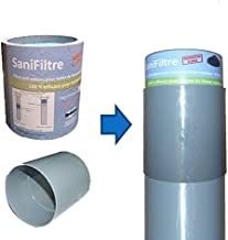 Lote para fosa séptica: filtro de olores + kit de montaje, gris, 100