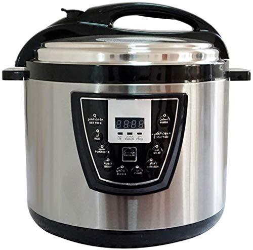 MaqrLT elektrische snelkookpan, ovaal, 9,5 – QT 12-in-1, ovaal, met langzaam koken, rijst, yoghurt, eieren, saut, stoom, warmhoudfunctie + accessoires en recepten, roestvrij staal