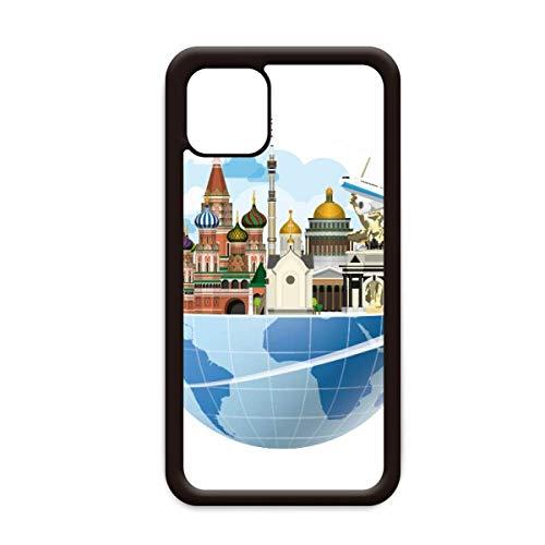 Rusland Kathedraal van St Basil Vliegtuig voor Apple iPhone 11 Pro Max Cover Apple mobiele telefoonhoesje Shell, for iPhone11