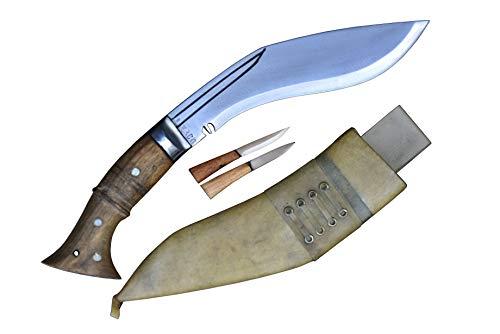 Authentic Gurkha Kukri Knife - 8 Inch Blade WWI Historical Kukri with White Leather Sheath-Handmade by GK&CO Kukri House in Nepal