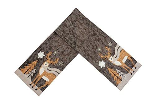 Comfy Hour 72'x32' Wood Reindeer Table Runner