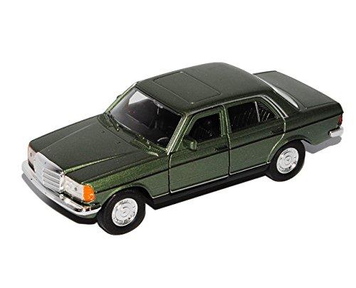 Welly Mercedes-Benz W123 E-Klasse Limousine Grün 1975-1986 ca 1/43 1/36-1/46 Modell Auto mit individiuellem Wunschkennzeichen