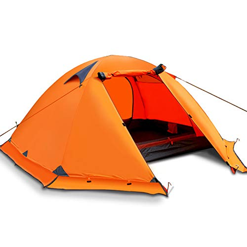 Ultralight Camping Hiking Tent 3-4 Person Outdoor Recreat Tent Waterproof Double Layers Beach Fishing Tourist Tents,Orange