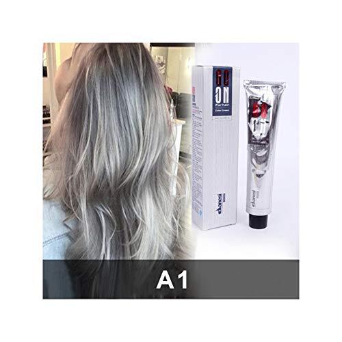 Allouli Permanent Hair Dye Color Cream Unisex Gray Silver Light Grey