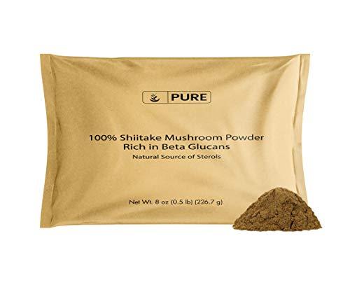 Shiitake Mushroom Supplement Powder (8 oz) Herbal...