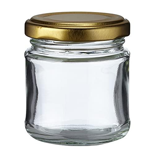 Nutley's - Lotto di 90 vasetti da marmellata, in Vetro, 100 ml