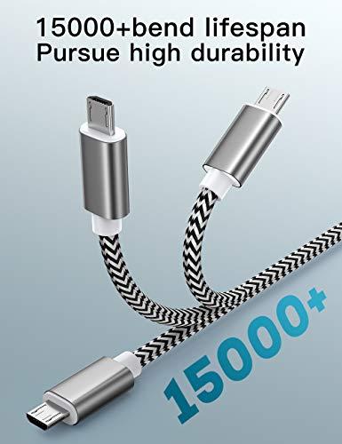 Micro USB kabel, 3Pack 2M Micro USB 2.0 Ladekabel/Datenkabel Nylon Geflochtenes High Speed Sync und Schnellladekabel für Samsung Galaxy Note,Nexus,HTC,LG,Nokia,Kindle und mehr Android Gerät (3Pack-2M)