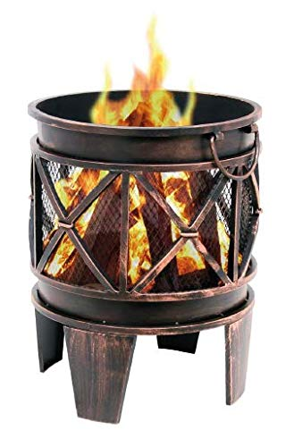 Heat Outdoor Living Firecask Fire Basket Diameter 42 x Height 52.5 cm Antique Rust Effect Garden Fire Pit
