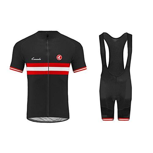 Uglyfrog Männer Canada Nationalflagge Designs Fahrrad-Club Cycling Team Bekleidung Jersey Shirts Kurze Hosen Set Sportbekleidung