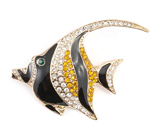 shop 5ld 箱付き 海水魚 アクアマリン タテジマキンチャクダイ ツノダシ クマノミ ブローチ (ツノダシ)