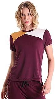 Camiseta Moletinho com Recorte Block - Vinho P