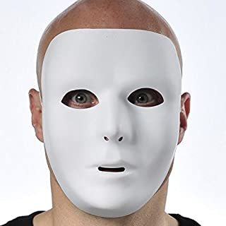 Amscan Full Face Mask, Party Accessory, White