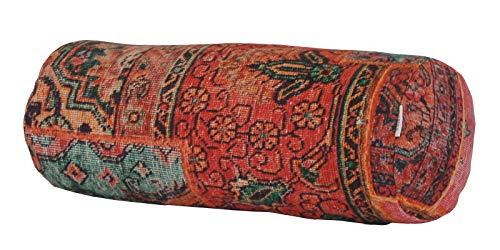 """beties """"PersischPatch"""" Nackenrollenhülle ca. 15x40 cm 100% Baumwolle marokkanischer Wohnstil in der Farbe abendrot"""