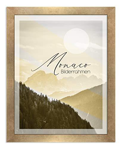 BIRAPA Bilderrahmen Monaco 50x70 cm in Vintage Gold - Farbe und Größe wählbar