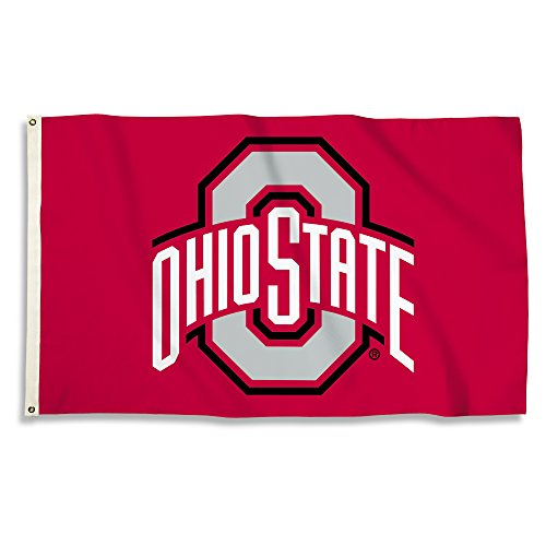 BSI PRODUCTS, INC. - Ohio State Buckeyes 3'x5' Flag with Heavy-Duty Brass Grommets - OSU Football, Basketball & Baseball Pride - High Durability - Designed for Indoor or Outdoor Use - Great Gift Idea