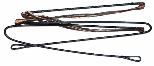 Premium Gear Replacement Compound Bow String - D-75 Tri Color Camo - Fits Hoyt/Reflex/More ((52')