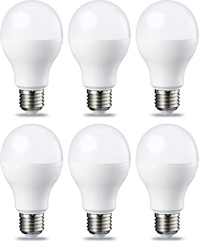 AmazonBasics E27 LED Lampe, 14W (ersetzt 100W), kaltweiß, 6er-Pack
