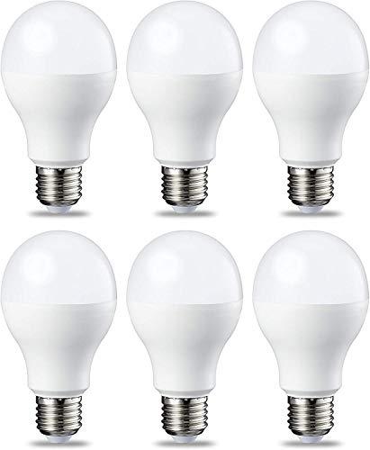 AmazonBasics Ampoule LED E27 A67 avec culot à vis, 14W (équivalent ampoule incandescentede 100W), blanc froid - Lot de 6