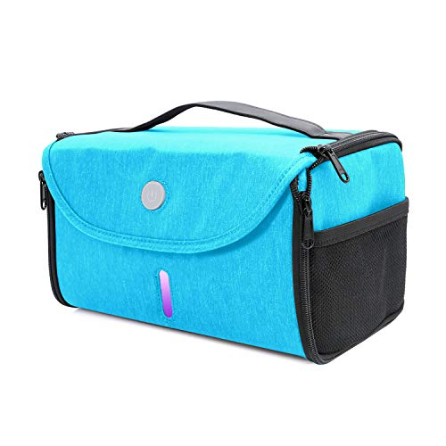 LED UV Sanitizer Bag, Portable LED Sterilizer Box, UVC Light Cleaner, 265nm UV Sterilizer for Cell Phone, Baby Bottle/Underwear/Toothbrush/Beauty Tools/Jewelry