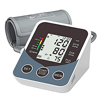 Inmorven Blood Pressure Monitor Kit for Upper Arm, Accurate Automatic Digital BP Machine & Pulse Rate Monitoring Meter, with Cuff 8.5''-16.5'',Tubing and Device Bag,2×99 Sets Memory for Home Use